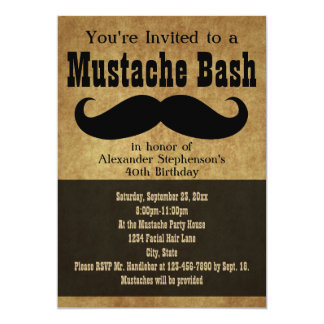 Vintage Mustache Bash Card