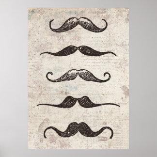 Vintage Mustache Poster