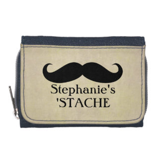 Vintage Mustache Stash Wallets