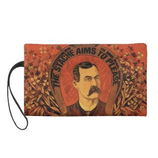 Vintage Mustache The Stache Aims to Please Wristlet Purse