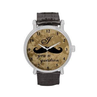 Vintage mustache watch for men
