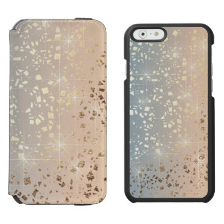 Vintage Muted 1920 Glam Gold Star Foil Sparkle iPhone 6/6s Wallet Case