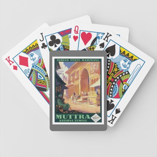 Vintage Muttra Krishna Temple India Bicycle Playing Cards