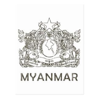 Vintage Myanmar Postcard