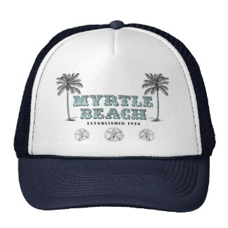 Vintage Myrtle Beach South Carolina Est 1938 Trucker Hat