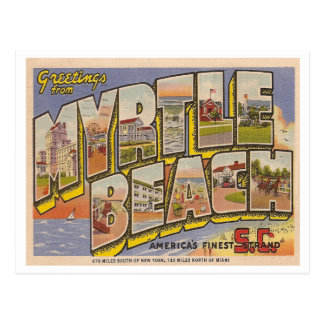 Vintage Myrtle Beach Tarjetas Postales