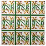 Vintage N inicial - monograma N Servilleta Imprimida