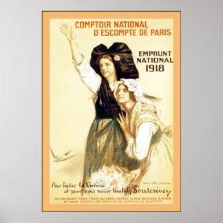 Vintage nacional del del de París del d escompte Posters