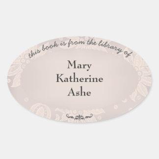 Vintage Name Plate Oval Sticker