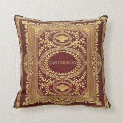 Vintage Named Tooled Leather Effect Throw Pillow