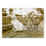 Vintage Nanny And Baby Notecard Greeting Card