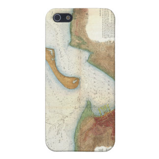 Vintage Nantucket Harbor Map Case For iPhone SE/5/5s