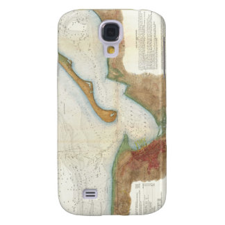 Vintage Nantucket Harbor Map Galaxy S4 Case