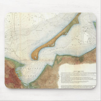 Vintage Nantucket Harbor Map Mouse Pad