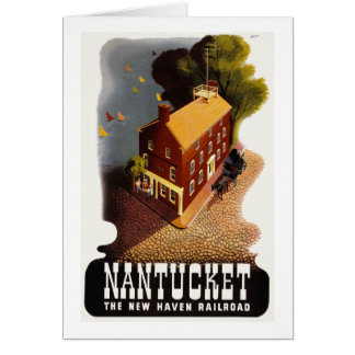 Vintage Nantucket MA Greeting Card