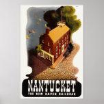Vintage Nantucket MA Poster