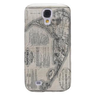 Vintage Nantucket Map Samsung Galaxy S4 Cases