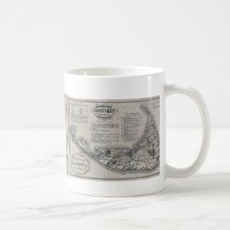 Vintage Nantucket Map Classic White Coffee Mug