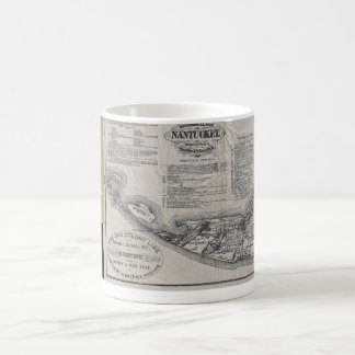 Vintage Nantucket Map Coffee Mug