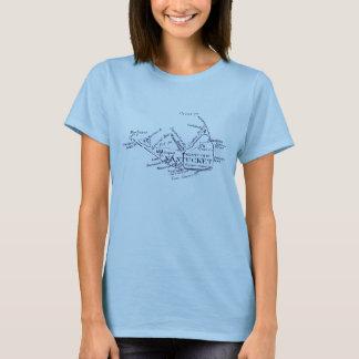 Vintage Nantucket Map, dark blue T-Shirt