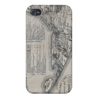 Vintage Nantucket Map iPhone 4/4S Case