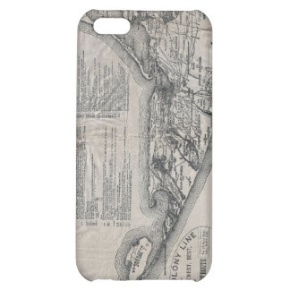 Vintage Nantucket Map Case For iPhone 5C