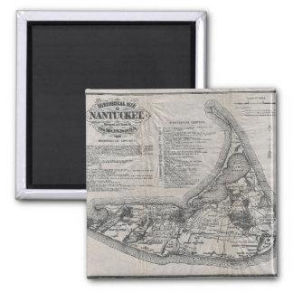 Vintage Nantucket Map Magnet