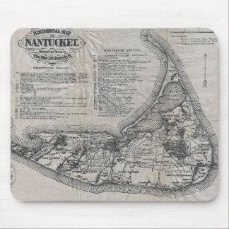 Vintage Nantucket Map Mouse Pad