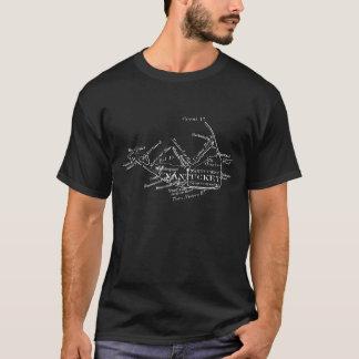 Vintage Nantucket Map, white T-Shirt
