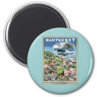 Vintage Nantucket Massachusetts 2 Inch Round Magnet