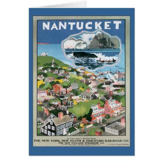 Vintage Nantucket Massachusetts Greeting Card