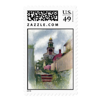 Vintage Nantucket View of South Tower Stamp