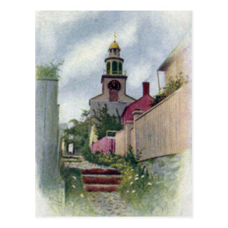 Vintage Nantucket View of South Tower Postcard