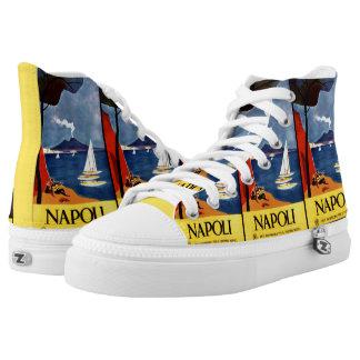 Vintage Napoli / Naples Italy Travel Poster shoes