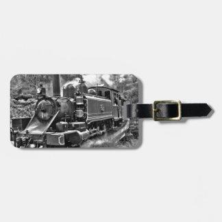 Vintage Narrow Gauge Steam Railway Luggage Tag