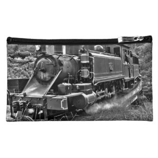 Vintage Narrow Gauge Steam Railway Makeup Bag