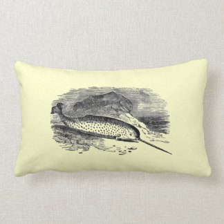 Vintage Narwhal Pillow