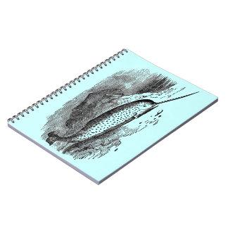 Vintage Narwhal Spiral Notebooks
