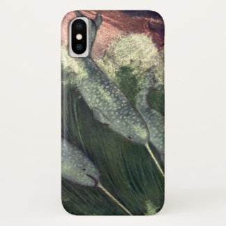 Vintage Narwhals Whales, Marine Life Ocean Animals iPhone X Case