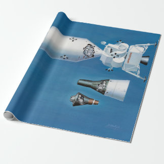Vintage NASA Spacecraft and Rockets Wrapping Paper