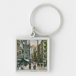 Vintage Nassau Street, New York City Key Chain