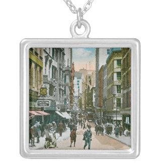 Vintage Nassau Street, New York City Custom Necklace