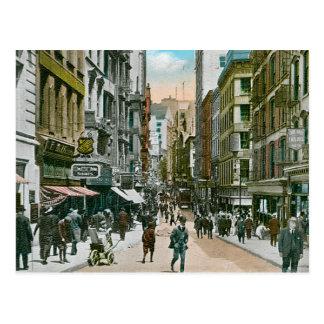 Vintage Nassau Street, New York City Postcard