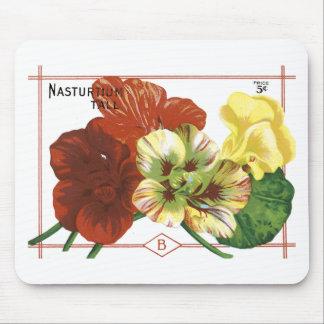 Vintage Nasturtium Seed Packet Mousepad
