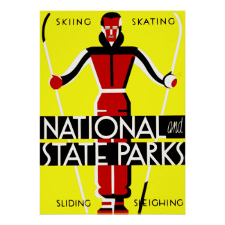 Vintage National and State Parks WPA Travel Poster