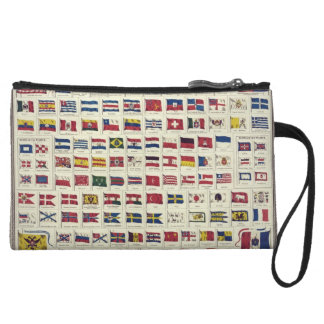 Vintage National Flags Chart - created 1863 Wristlets