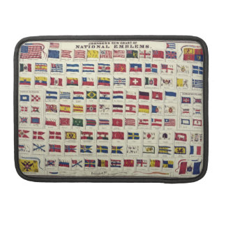 Vintage National Flags Chart - created 1863 Sleeves For MacBook Pro