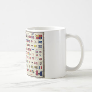 Vintage National Flags Chart - created 1863 Mugs