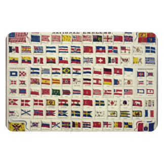 Vintage National Flags Chart - created 1863 Rectangular Photo Magnet