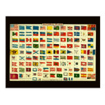 Vintage National Flags of The World Postcard